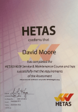 HETAS H009 Service and Maintenance Course
