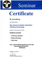 Certification in Further Education Presented by a German Chimney Sweeping College