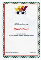HETAS Chimney Sweep Refresher Course